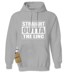Straight Outta The Linc Football Adult Hoodie Sweatshirt