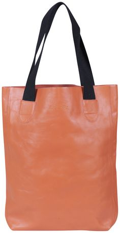 lilifi orange leather tote