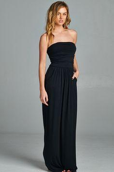 Strapless Pocket Maxi Dress – ROUTE 32