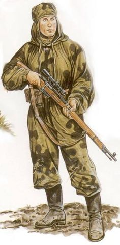 Soviet sniper WWII, pin by Paolo Marzioli                                                                                                                                                                                 More