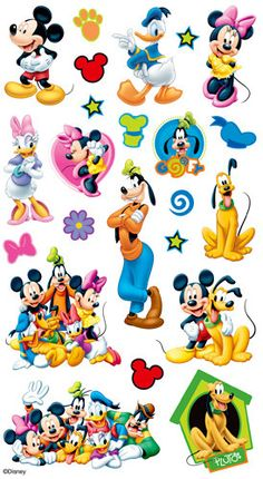 EK Success - Disney Collection - Classic Stickers - Mickey and Friends Craft Stickers, Kawaii Stickers, Scrapbook Stickers, Cute Stickers, Printable Stickers, Disney Scrapbook, Mickey Mouse Clubhouse Party, Mickey Minnie Mouse, Disney Mickey