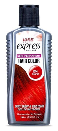 Kiss Express Color *K44 Semi-Permanent Scarlet 3.5 Ounce (100ml) (6 Pack) ** Want to know more, click on the image. #hairoftheday