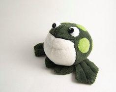 Plush handmade frog
