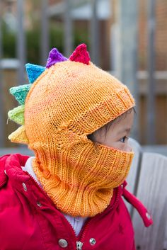 Perfect for a 9 degree morning like today. The Dino Wee Balaclava is going on my queue for next winter's 2 year old.