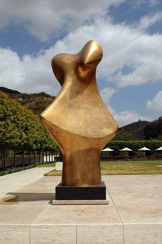 Bronze Form, Henry Moore, 1986. Bronze. The J. Paul Getty Museum