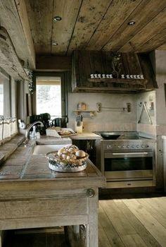 Idées cuisine: focus sur la cuisine chalet moderne | Chalets and ...