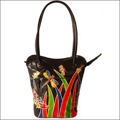 India Hand Tooled Painted Genuine Leather by ZintLeatherGoods