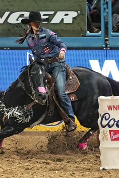 """Stevi Hillman joined the WPRA in 2012 and has 3 NFR qualifications 2016-2018. She has been riding in 5 Star saddle pads for over 6 years. Her favorite pad is The Barrel Racer pad in a 7/8"""" thickness. Stevi also competes in 5 Star's Patriot Sport Boots. We cannot wait to see what the 2019 season holds for Stevi Hillman Professional Barrel Racer!  #team5star #team5starequine #WPRA #womensprorodeo #womeninrodeo #horsegirl #NFR #barrelracer #barrelracing #rodeo #5starpads #5starboots…"""
