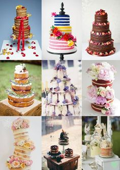 Naked Wedding Cakes Mood Board from The Wedding Community