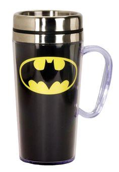 Batman Superman Comic Panel  Insulated Travel Mugs with Handle set of 2