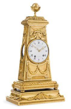 A LOUIS XVI ORMOLU MANTEL CLOCK circa 1775, the dial signed Castagnet a Paris and Coteau
