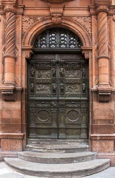 Lovely doorway and door at the Adelphi Bank building, Liverpool