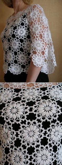 puff flowers crochet wrap