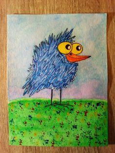 HappyBird ✏Aquarell Farben und Stifte, Fineliner, weißer Gelroller