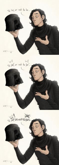 Star Wars: TFA || That's it, I'm going full-blown Draco in Leather Pants (http://tvtropes.org/pmwiki/pmwiki.php/Main/DracoInLeatherPants) with Kylo Ren.