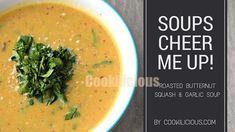 Roasted Butternut Squash & Garlic Soup%