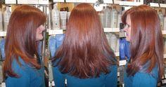 gorgeous, rich auburn color using Wella color