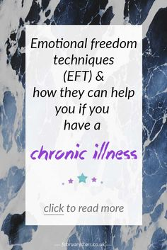 An introduction to EFT (also known as tapping) and how it can help you if you have  chronic illness. Pin to save for later or click to read.