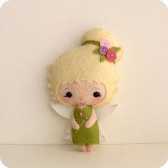 cute tooth fairy felt doll idea, add pocket for when Tay loses her teeth & brown hair/blue eyes