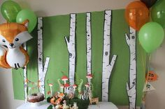 Cute Woodland Baby Shower Ideas For Any Budget - - Butterfly Fly Away - Birthday Party Idee Baby Shower, Baby Shower Backdrop, Boy Baby Shower Themes, Baby Boy Shower, Gruffalo Party, Forest Baby Showers, Animal Baby Showers, Woodland Baby, Woodland Forest