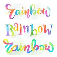 brighten your day learn rainbow lettering using watercolors
