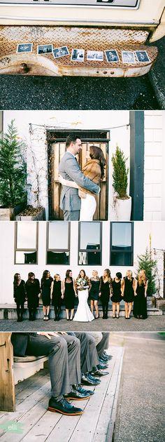 Urban glam winter wedding