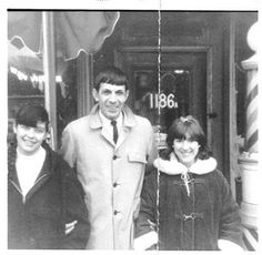 "data2364: "" >> A young Leonard Nimoy in front of his father's barber shop at 1186 Blue Hill Ave. It's still a barbershop."
