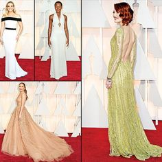 The #Oscars 2015 | 87th #Academy #Awards #Red #Carpet #Fashion: #Best #Dressed - Our #Top5 1. #Lupita #Nyong'o in a custom #Calvin #Klein #Collection #gown  2.#Jennifer #Lopez in an #elegant #Elie #Saab gown . 3. #Reese #Witherspoon in a #custom #Tom #Ford #dress 4. #Rosamund #Pike in #Givenchy #Haute #Couture 5. #Emma #Stone in a #gold #Elie #Saab #gown accessorized with #Tiffany & #Co. #jewelry.