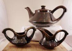 Beauceware Vintage poterie sucrier, crémier et théière modèle 706 Made in Canada