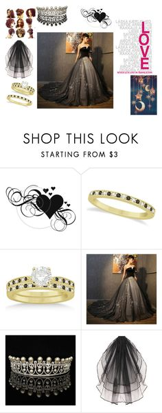 """""""BIG.BOLD.BLACK.WEDDING"""" by d-signs-u-luv ❤ liked on Polyvore featuring Allurez and blackandwhite"""