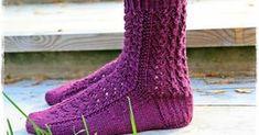 Lupasin laittaa pitsisukkien ohjeen tänne blogiin. Ohjeen saaminen kirjalliseen muotoon on jokseenkin haastavaa, sukkien mallit syntyvä... Knitting Socks, Handicraft, Fashion, Tights, Wool, Tricot, Wrist Warmers, Knit Socks, Craft