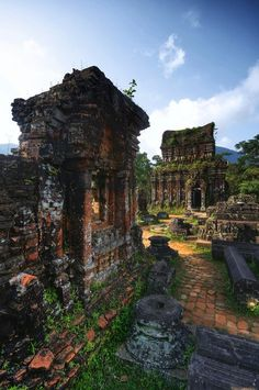 Mỹ Sơn Sanctuary, Vietnam. My Son Sanctuary was designated a UNESCO World Heritage Site in 1999.