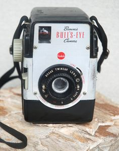 Vintage 1950s Kodak Brownie Bull'sEye Camera by SoftFocusVintage, $30.00