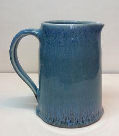 Jug with blue waterfall glaze Annie Jennings
