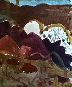 Meagan Jacobs Artist - Landslide - Gouache on paper