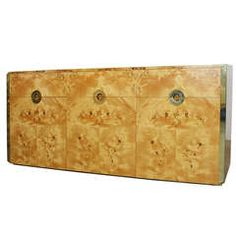 Credenza in Exotic Burl by Willy Rizzo