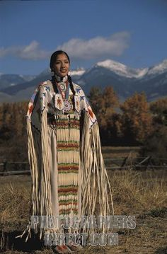Shoshone Beadwork | ... Traditional Lemhi Shoshone woman , Summer Ba stock photo pd1802719.jpg
