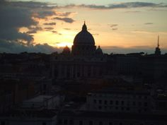 a view of the vatican from the top of castel sant'angelo