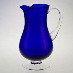 Cobalt Optic Pitcher-Impressi by Badash Cobalt Glass, Cobalt Blue, Venetian Glass, Antique Glass, Im Blue, Blue And White, Glass Pitchers, Glass Jug, Fenton Glass