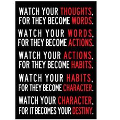 Watch Your Thoughts Motivational Poster 13 x 19inch