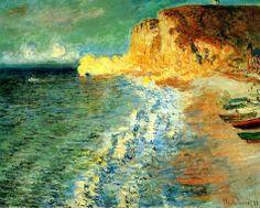Claude Monet, Mañana en L'Étretat,1883. Óleo sobre lienzo, 63x81 cm, Colección particular