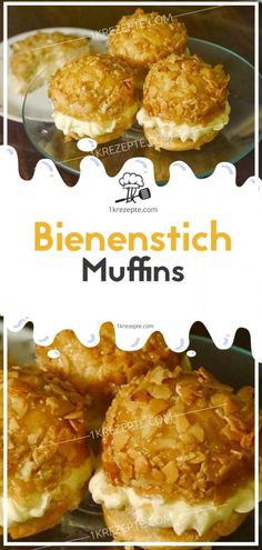 Bienenstich-Muffins - Cupcakes / Muffins - Perfect Dessert and Recipes Pastry Recipes, Cupcake Recipes, Dessert Recipes, Delicious Desserts, Cupcakes, Cupcake Cakes, German Bee Sting Cake, Taiwanese Cuisine, Healthy Muffins