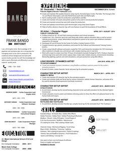 Artist Resume, 3d Artist