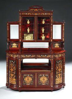 Hampton u0026 Sons - A Very Fine Display Cabinet by Hampton u0026 Sons of London