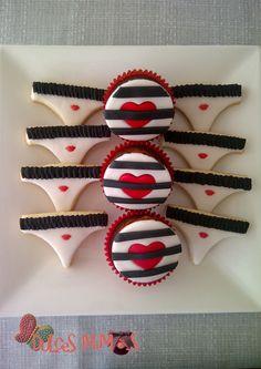 bachelorette party cookies cupcakes despedida de soltera