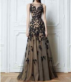 2014 Long Black Applique Evening Formal Prom Party Cocktail Dresses Wedding Gown Free shipping