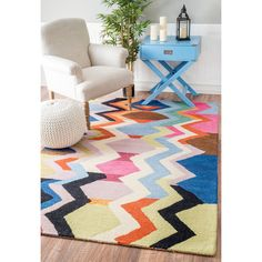 Pattern: Geometric, Abstract, Chevron. Handmade with 100-percent wool, this rug features a durable and plush pile suitable for high traffic areas. All rug sizes are approximate. Due to the difference of monitor colors, some rug colors may vary slightly. | eBay!