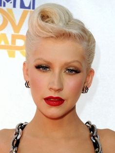 How to create a vintage pompadour updo.