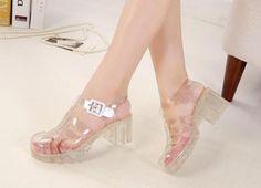Harajuku Retro Plastic Sandals ✿ ✿ 16e763ed2600