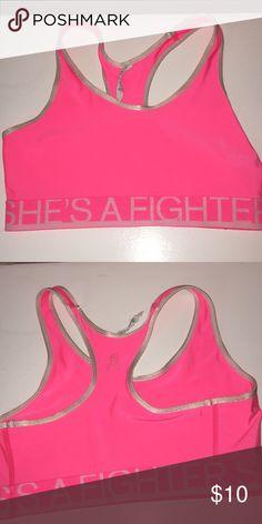 b8a19372024bf Under Armour breast cancer sports bra EUC Under Armour Intimates   Sleepwear  Bras Cute Bras